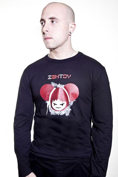 ZenToy - Man zwart t-shirt (lange mouwen)